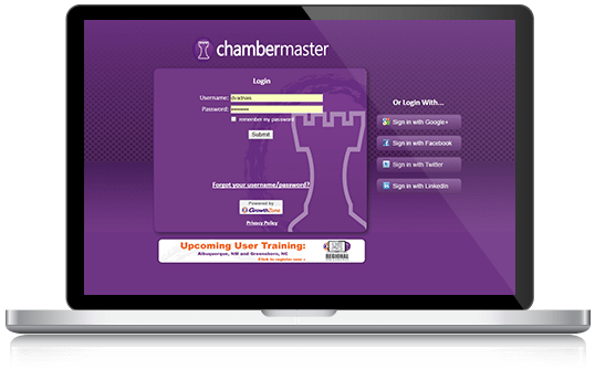 ChamberMaster Chamber Management Software Training Schedule
