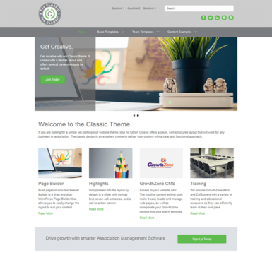 Classic Website Theme for Associations