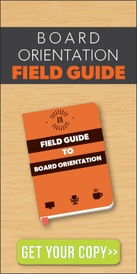 image of board orientation book