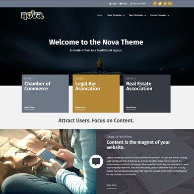 image of nova website template