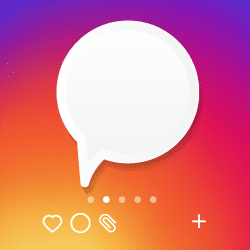 image of instagram text bubble